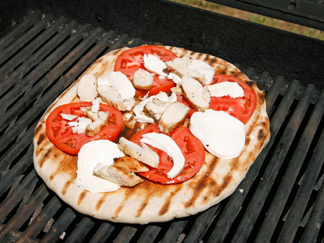 Grilled Chicken Margherita Pizza Step 3