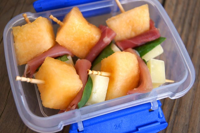 Ham, Cheese, and Melon Kebabs Recipe Main Image