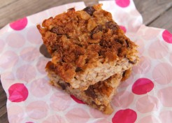 Cinnamon Raisin Oatmeal Breakfast Bars Recipe