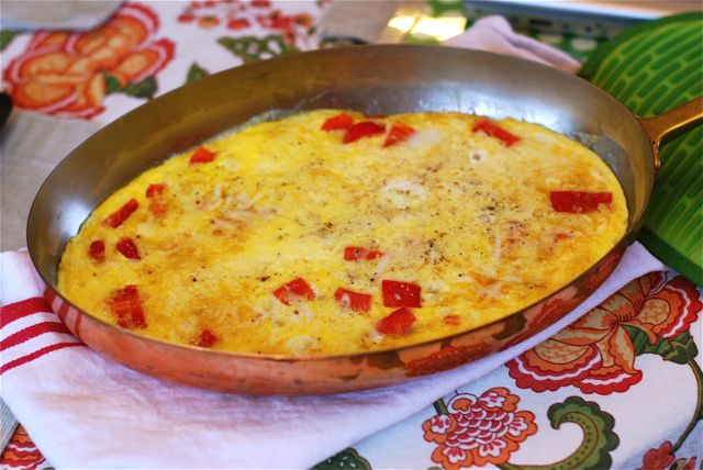 Mozzarella and Red Pepper Frittata Recipe Final