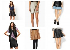 Fall Trendspotting: Leather Skirts