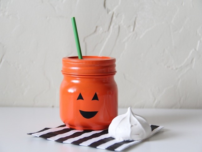 Mason Jar Jack-O-Lantern Craft