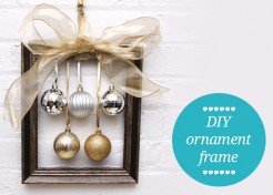 DIY Christmas Wreath Alternative – Ornament Frames