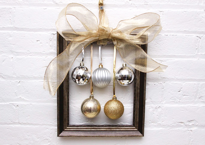 diy ornament frame tutorial