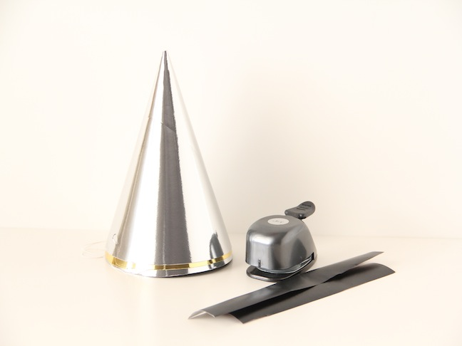 how to make metallic party hats