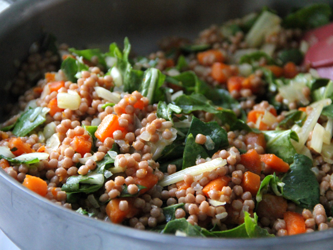 Pearl Couscous with Sweet Potatoes Fennel and Sage