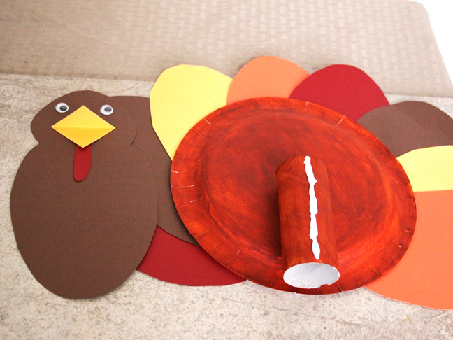 Turkey Paper Plate Craft - Step 14