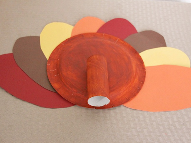 Turkey Paper Plate Craft - Step 6