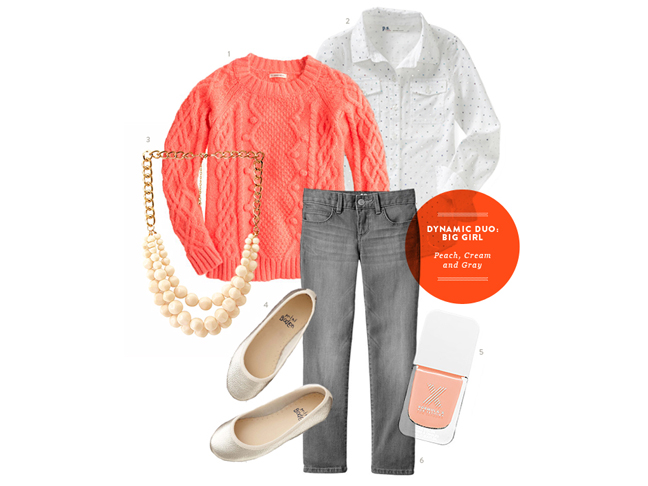 big-girls-style-coral-jeans-sweater