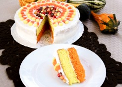Candy Corn Sun Burst Cake Recipe