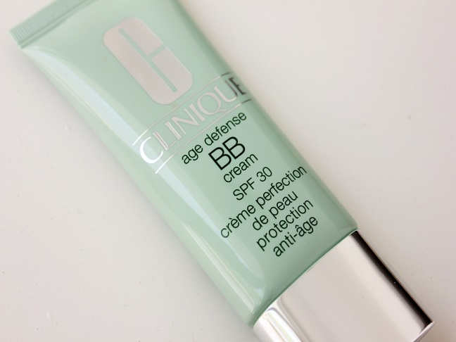 a seafoam green tube of Clinique bb cream with silver cap