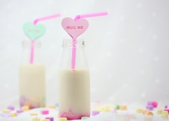 DIY Valentine's Day Straws: Conversation Hearts