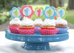DIY First Birthday Cupcake Topper