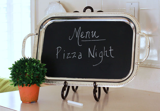 Superb Chalkboard Menu Tray