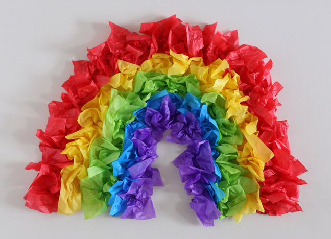 DIY-TISSUE-PAPER-RAINBOW