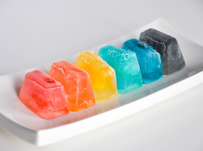 rainbow ice cubes