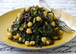 Wild Rice with Chickpeas and Swiss Chard Recipe