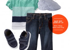 Baby Boy Style: Mint, Navy, White, and Gray