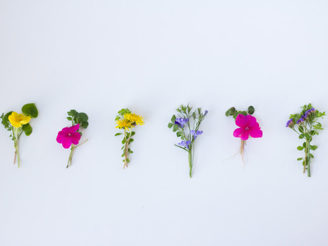 mini wildflower bouquets