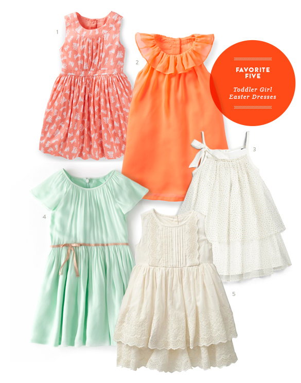 Favorite Five Toddler Girl Easter Dresses