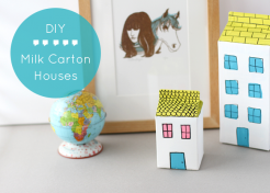 DIY Milk Carton Houses