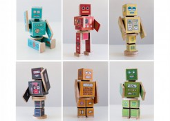 Adorable DIY Robot Blocks + Two Free Printables