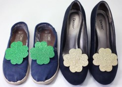 [Free Printable] DIY Shamrock Shoe Clips