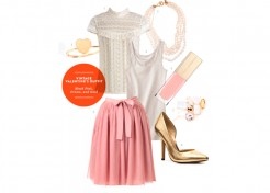Perfect Valentine's Day Date Outfit: Pink, Cream, and Gold