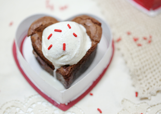 Gluten-Free Brownies filled with Valentine's Day Candy