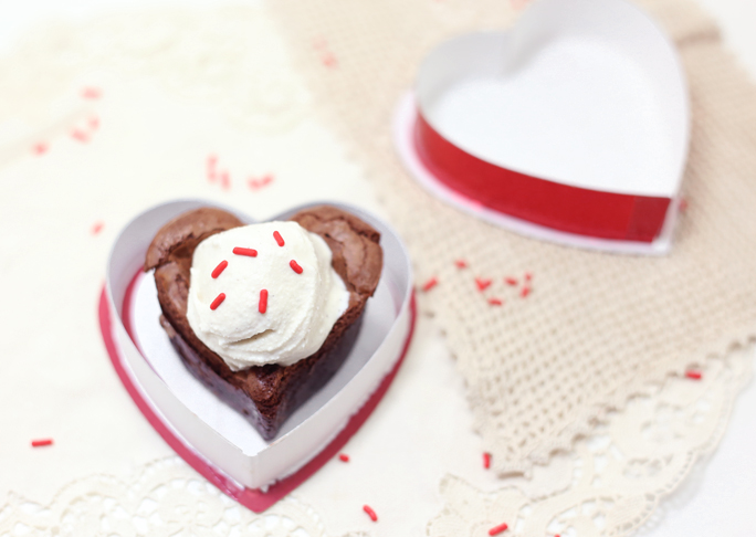 Valentine's Day Chocolate-Stuffed Brownies (Gluten Free)