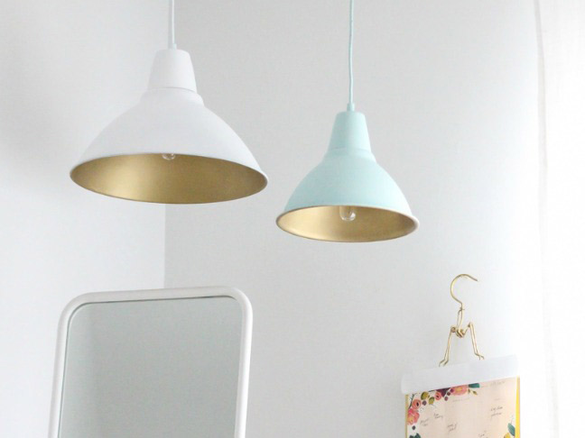 DIY Gold Pendant Lights