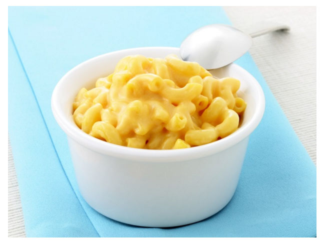 bright yellow mac and cheese