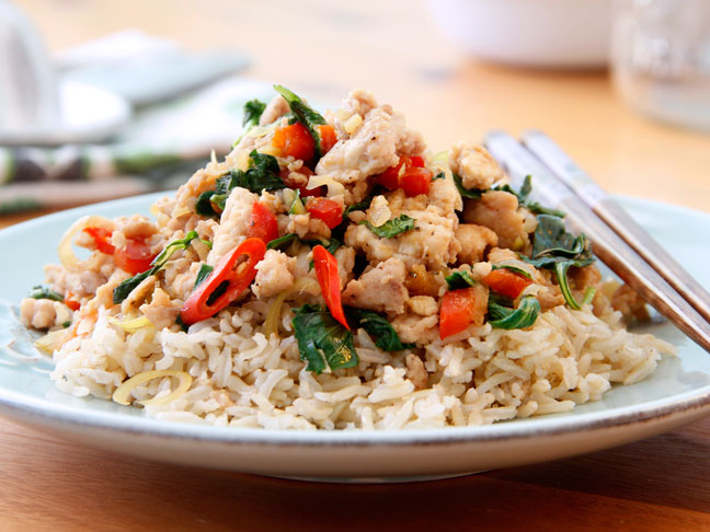 Thai Chicken Basil Stir Fry Recipe