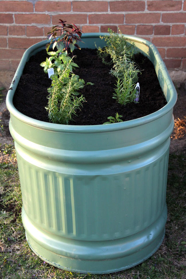 Diy Water Trough Herb Garden