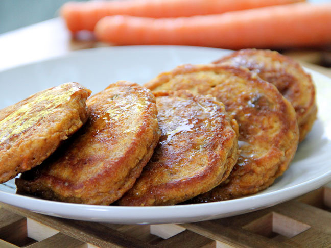 Easy Carrot Cake Pancakes For National Pancake Day!