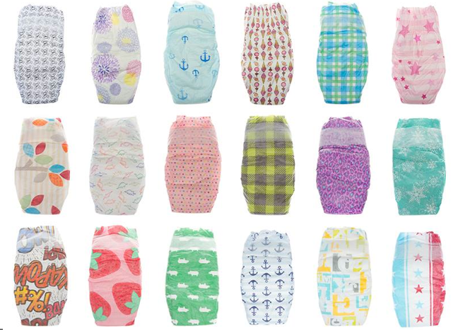 Tons of patterns set The Honest Co. apart from the nappy flock.