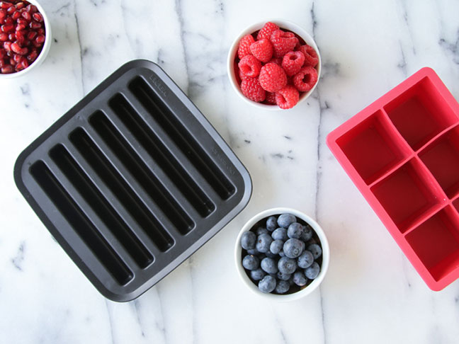 Step 1: July Fourth Ice Cubes