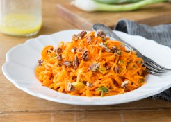 Meatless Monday: Shredded Carrot Salad with Candied Pecans Recipe