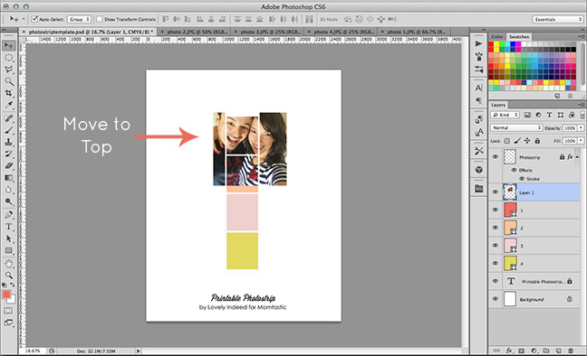 FREE TEMPLATE] Turn Cell Phone Photos into Faux Photo Booth Pictures
