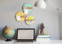 DIY Painted Bulletin Boards