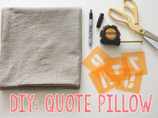Diy Quote Pillow Case: DIY  Quote Pillows   Momtastic,