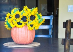 Make a Faux Pumpkin Centerpiece for Fall