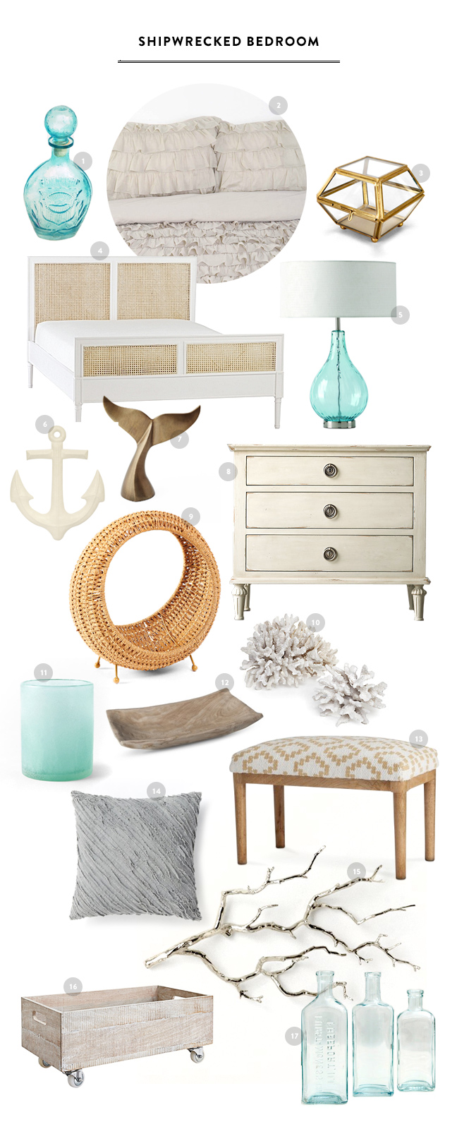Shipwrecked Vintage Bedroom Inspiration