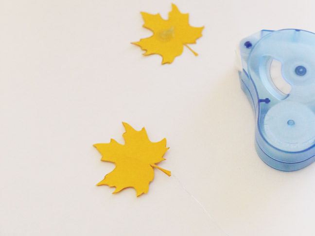 DIY Falling Leaves Cake Topper