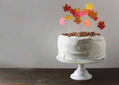 [FREE TEMPLATE] DIY Falling Leaves Cake Topper