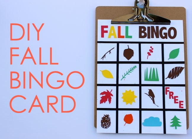 DIY fall bingo card