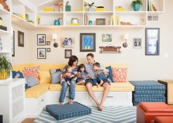 Small Space Living: A Beachy, Multitasking Family Room
