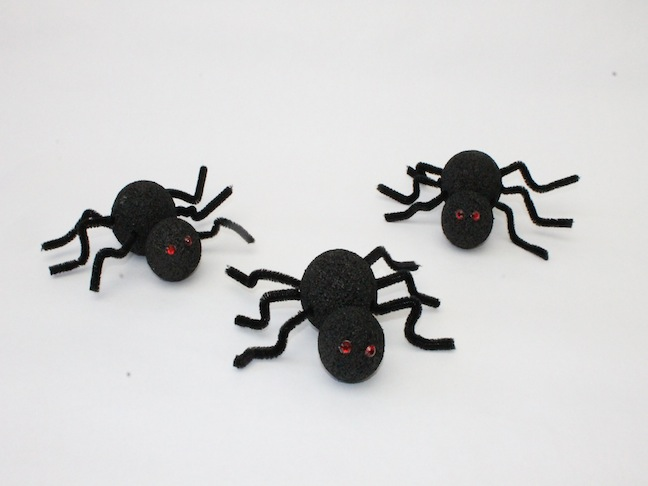 DIY: Spooky Styrofoam Spider Crafts