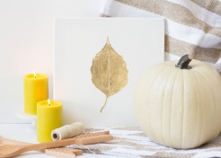 DIY Golden Leaf Art for Fall