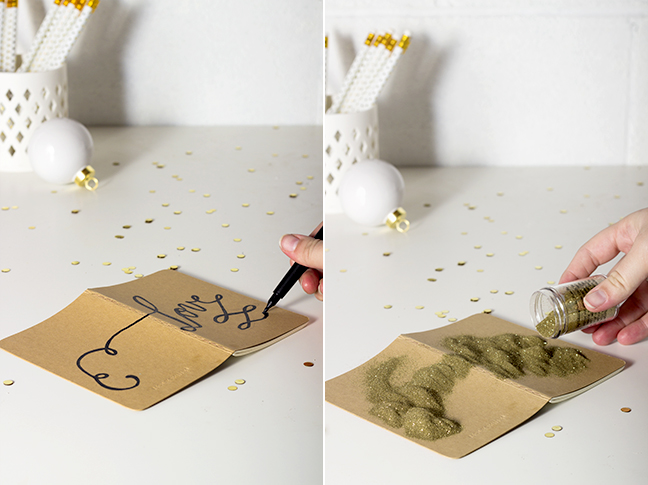 Diy Book Cover Embossing : Diy holiday gifts embossed calligraphy notebooks